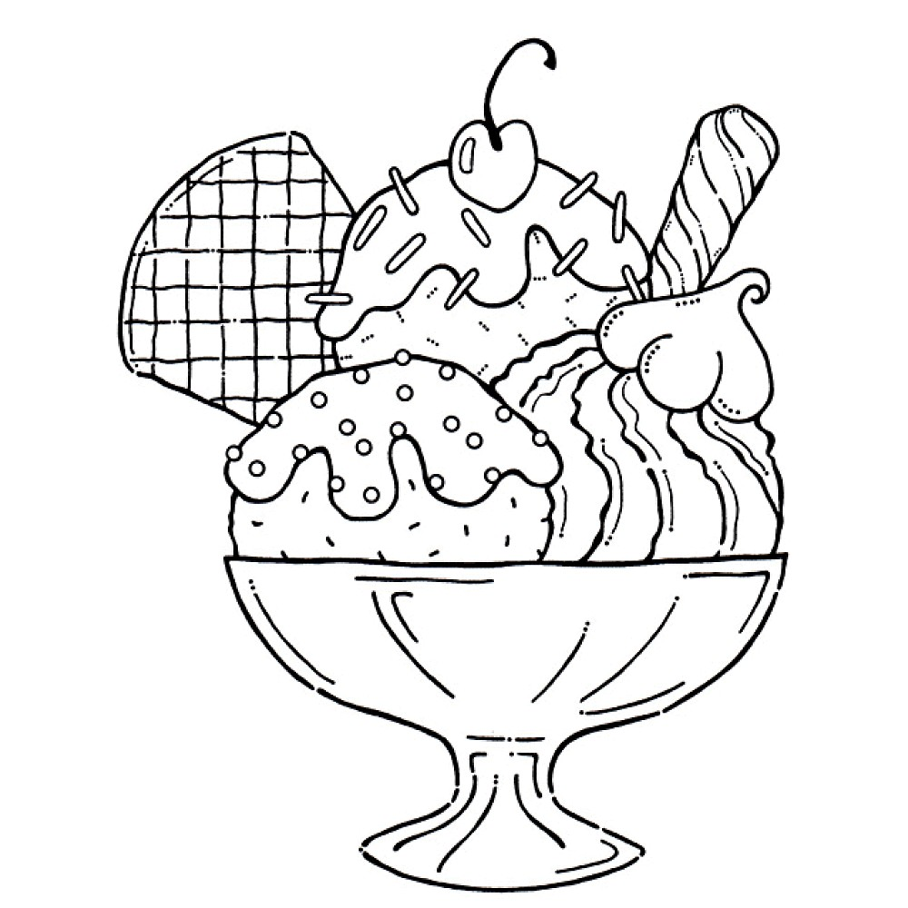 dessert coloring pages 4